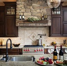 Beautiful tile and stone used in this eclectic kitchen by Chipper Hatter Architectural Photographer