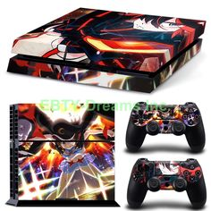 EBTY-Dreams Inc. - Sony Playstation 4 (PS4) - Kill la Kill Anime Girl Ryuuko Matoi Mako Mankanshoku Vinyl Skin Sticker Decal