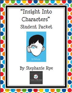 "Use this packet as you teach the free lesson plans available for the ""Insight into Characters"" unit.  It's a great read aloud!  $"