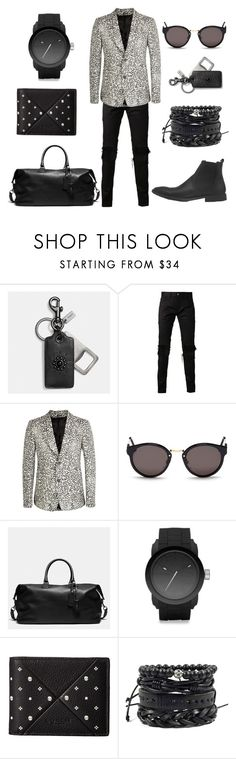 """""""Panthera"""" by fakefur on Polyvore featuring Coach, Christian Dada, Alexander McQueen, RetroSuperFuture, Diesel, men's fashion and menswear"""