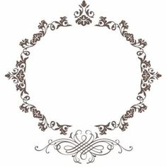 Mauricio.Salvo@kpit.com Wedding Logo Design, Wedding Logos, Wedding Cards, Monogram Frame, Monogram Logo, Arabesque, Floral Frames, Boarders And Frames, Floral Drawing