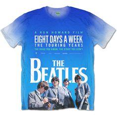 The Beatles Mens Fashion Tee: 8 Days a Week Movie Poster Wholesale Ref:BEATTEE320MWSUB