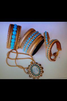 Bracelet turquoise rainston hand made by Rachel gefen 115 dizengof tel aviv