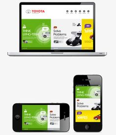 Responsive web design... We love it! Toyota website concept by liang - responsive design - www.eewee.fr