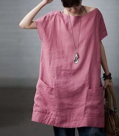 Totally Free Casual Linen Dress by zeniche on Etsy, $57.00