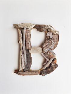 8 Driftwood Letter Letter B Woodland Letter Wood by IronandTides