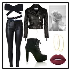 """""""Untitled #542"""" by juliatini-je on Polyvore featuring Alaïa, Lana and Lime Crime"""