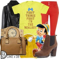 I can't lie! You will look adorable in this Pinocchio inspired outfit. | Disney Fashion | Disney Fashion Outfits | Disney Outfits | Disney Outfits Ideas | Disneybound Outfits |