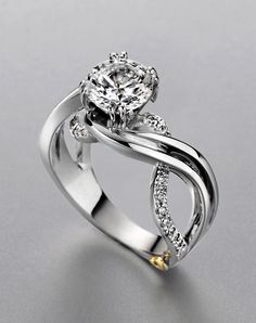 Beautiful Mark Schneider ring! Might be hard to match a wedding band to (but who cares! lol).