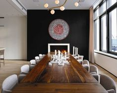 14' solid walnut dining table,   Bond St. NYC  -Patrick Townsend