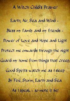 Witch child's prayer