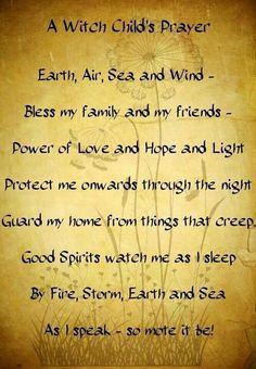 Witch child's prayer