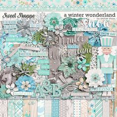 Digital Scrapbook Kit, A Winter Wonderland by Amber Shaw