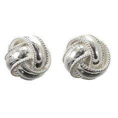 Sterling Silver Knot Style Earrings