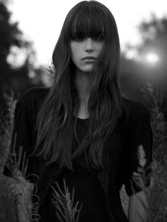 Lissa needs this in her life. Is my face too round? Love me long hair and straight bangs.