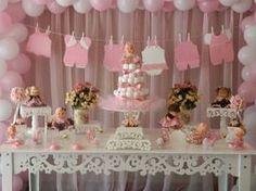varal roupa rosa chá de bebê