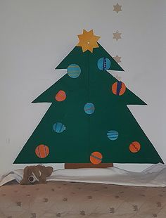 5hugs: Basteln: Weihnachtsbaum für Kleinkinder