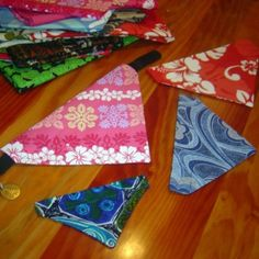 Bandanas for Dogs. I did make these. Check out natures-sol.com for pics and a PDF with this address.