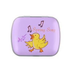 Spring Song Candy Tin with Jelly Bellies #candytin #Easter #babychick #music #purple