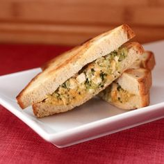 Chicken and Broccoli Grilled Cheese: Made this earlier this week, and it's now going in our regular rotation. I made them in a panini press to cut down on the butter/oil, but even the cold mixture is awesome as a broccoli-y cheesy chicken salad sandwich for lunch. (Uses greek yogurt instead of mayo! Win!)