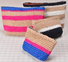 小物から服まで、1本で手軽に編めるかぎ針編み。初心者でも簡単に挑戦できる夏らしいジュート(黄麻)の...