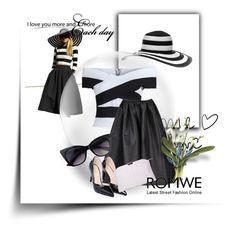 """ROMWE 5/I"" by amina-haskic ❤ liked on Polyvore featuring romwe"