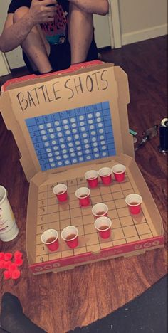 Battleshots with my man ❤️ DIY pizza box battleshots Sleepover Party Games, Diy Party Games, Fun Sleepover Ideas, Drunk Games, Alcohol Games, Drinking Games For Parties, Drinking Board Games, Beer Pong Tables, Partying Hard