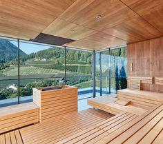 La nostra sauna con un panorama mozzafiato