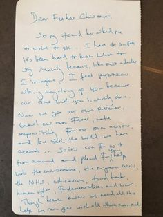 la lettre de benedict cumberbatch au pre nol