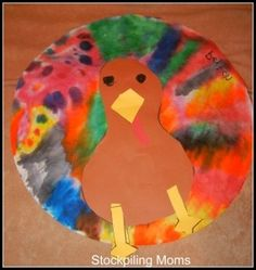 Thanksgiving Craft :: Coffee Filter Turkey