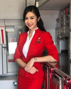 I know I've been misbehaving, miss, and I know you're only doing your job, but isn't there a bloke on board who could tie me up instead of you? A passenger maybe? Ideal Beauty, Asian Beauty, Air Hostess Uniform, Airline Cabin Crew, Airline Uniforms, Female Pilot, Flight Attendant Life, Office Skirt, Womens Wetsuit