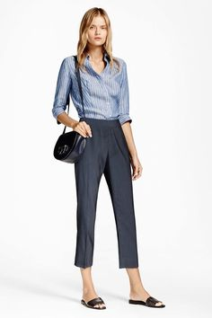 Heels or flats, dress up or down with accessories - Brooks Brothers - Spring 2017 Ready-to-Wear