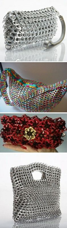 Stylish Bags Made of Pop Tabs – DIY