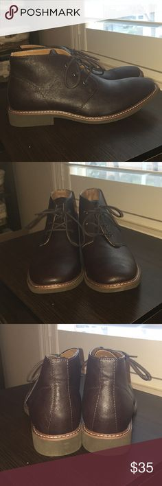 {Hot New Item Sale!} Guess chukka boots (mens NEW) Guess chukkas, men's, never worn (tried on once). Super dark brown, almost look black (see pics) Guess Shoes Chukka Boots