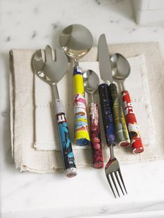 upcycled silverware
