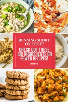 Be prepared for whatever life throws at you! These recipes that require six ingredients or fewer can be extremely helpful when ingredients are dwindling. Budget Family Meals, Healthy Family Meals, Beef Recipes, Cooking Recipes, Healthy Recipes, Easy Recipes, Healthy Snacks, Clean Eating Recipes, Healthy Eating