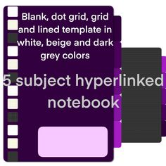 5 subject purple notebook digital notebook 5 subject digital notebook for school notebook for work hiperlink notebook by Fdigitalstudio on Etsy Printable Quotes, Printable Art, School Notebooks, Sticker Shop, Handmade Items, Handmade Gifts, Marketing And Advertising, Dots, Templates