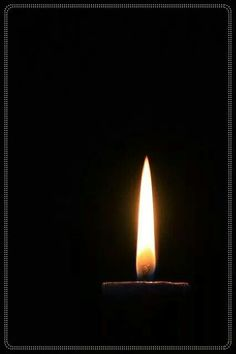 .Black candle.