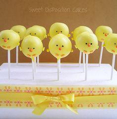 Spring chicks!  Cake pops!