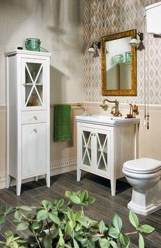 CROSS umyvadlová skříňka 70x81x47cm, starobílá : SAPHO E-shop Vanity, Retro, Bathroom, House, Shop, Home Decor, Dressing Tables, Washroom, Powder Room