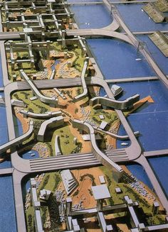 Kenzo Tange's 1960 plan for Tokyo. I have discovered this paper about the plan.