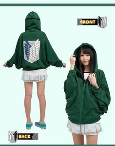 Attack On Titan Recon Corps Clothing Cosplay Hoodie Unisex Soft Schiropter Sweatshirt Survey Corps