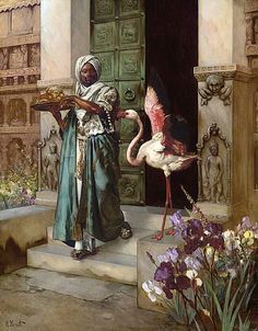"""""""Entering the Palace Gardens"""" by Rudolf Ernst"""