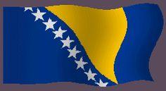 Banderas animadas de Bosnia en formato de gifs animados para poner en tu página web, son imágenes gratuitas animadas para diseño web. Bandera animada de Bosnia y dibujo del emblema nacional del país como enseña nacional. Ilustraciones del simbolo del país para los estudiantes, profesores y para hacer trabajos para la escuela, el instituto y todo lo que sea educación. Imágenes para descargar y utilizar en la web gratis.
