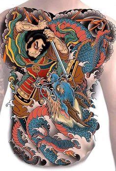 Japanese Geisha Tattoo, Japanese Koi Fish Tattoo, Japanese Tattoo Designs, Japanese Sleeve Tattoos, Dragon Tattoo Art, Japan Tattoo Design, Full Back Tattoos, Traditional Japanese Tattoos, Asian Tattoos