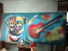 Pintura temática para habitación de jovenes Acrílico/bastidor 2.10 x 1.00 Bea 2015
