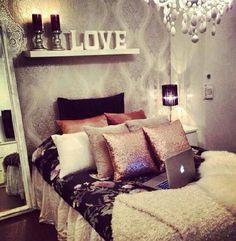 45 Beautiful and Elegant Bedroom Decorating Ideas. 45 Beautiful and Elegant Bedroom Decorating Ideas. Dream Rooms, Dream Bedroom, Home Bedroom, Bedroom Decor, Bedroom Ideas, Girls Bedroom, Master Bedroom, Design Bedroom, Bedroom Inspiration