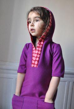 maniMina hoodie dress pattern