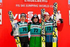 Simon Ammann, Roman Koudelka, Michael Hayboeck| FIS Skispringen Weltcup | Engelberg / Schweiz | Fotograf Kassel http://blog.ks-fotografie.net/pressefotografie/weltcup-skispringen-engelberg-schweiz-2014-pressebildarchiv/