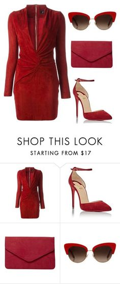 """Runaway in red"" by cover-styler ❤ liked on Polyvore featuring Jitrois, Christian Louboutin, Dorothy Perkins and Dolce&Gabbana"